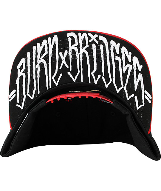 ... REBEL8 Burn Bridges Black   Red 2 Tone Snapback Hat edd41caf39a