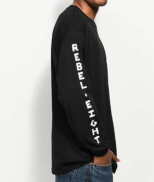 REBEL8 Death Proof Black Long Sleeve T-Shirt