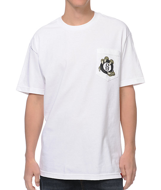 REBEL8 Dumbluck White Pocket T-Shirt