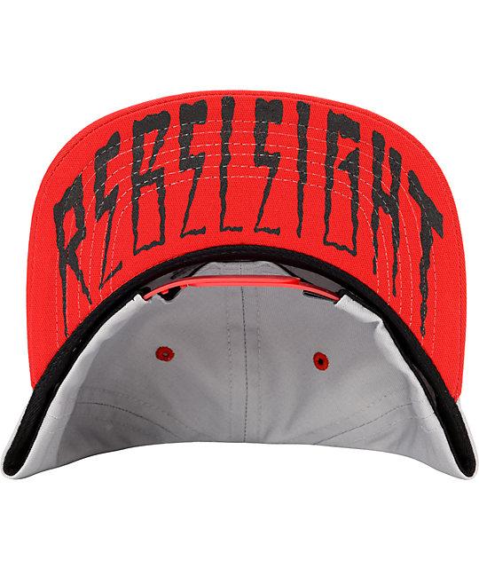 ... REBEL8 Eagle Eye Grey   Red Snapback Hat e8bcd28138c3