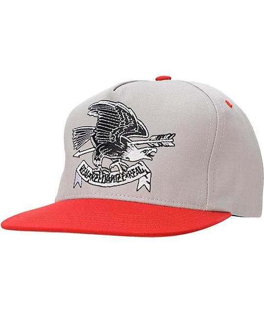 REBEL8 Eagle Eye Grey   Red Snapback Hat  127ebf82e616