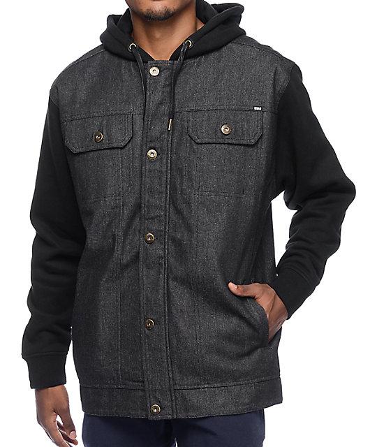 great deals 2017 choose newest 2020 REBEL8 Faction Black Denim Vest Hooded Jacket