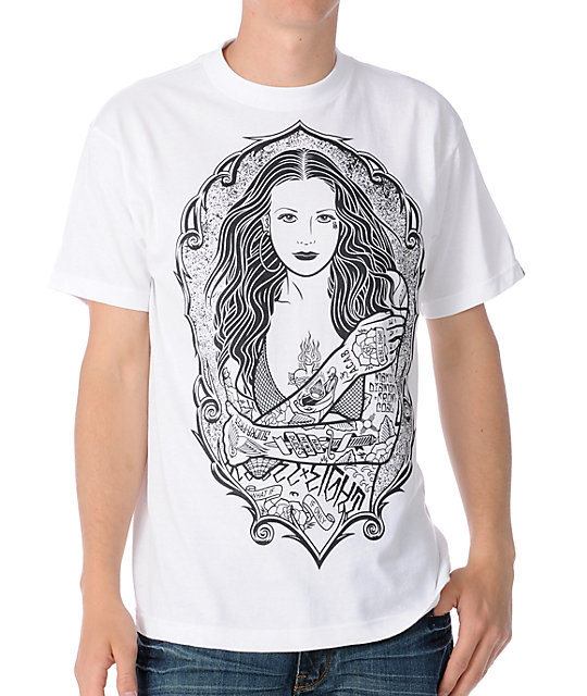 REBEL8 Fishnet White T-Shirt