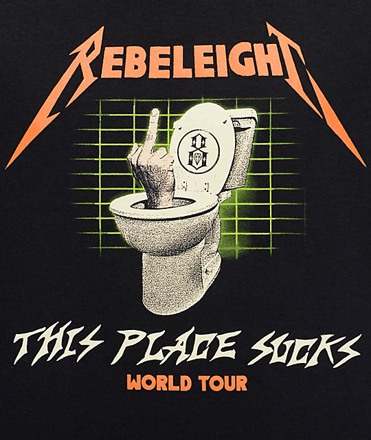 REBEL8 Flushed camiseta negra