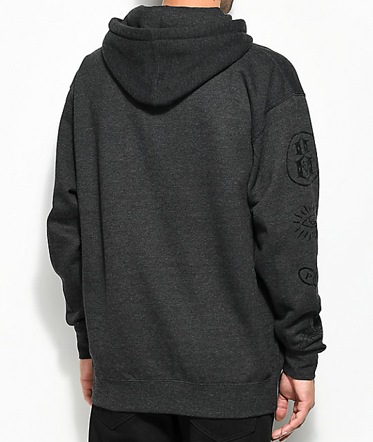 REBEL8 Foretold Charcoal Hoodie