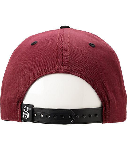 REBEL8 Logo Maroon & Gold Snapback Hat