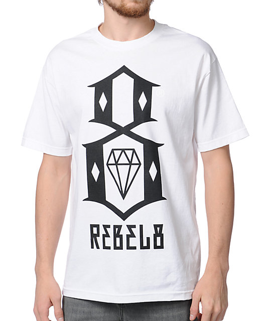 REBEL8 Logo White T-Shirt