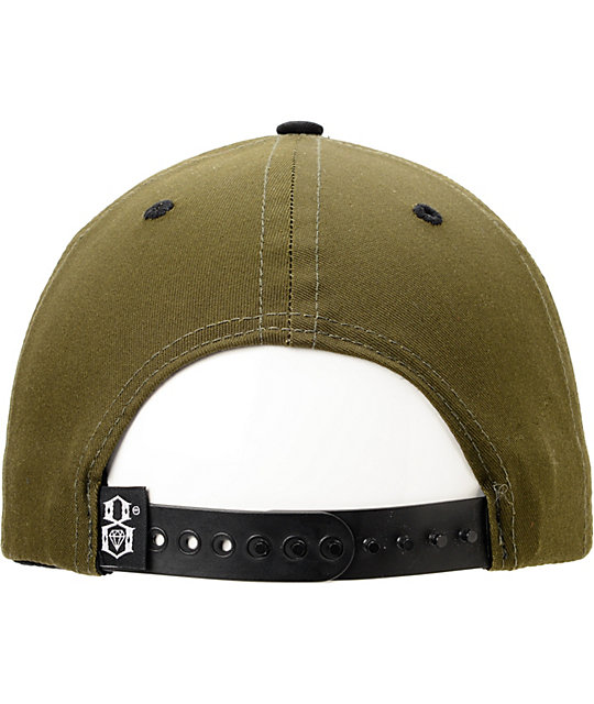 REBEL8 Logo Winter Army Snapback Hat