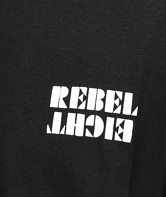 REBEL8 Overspray Black T-Shirt