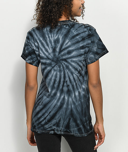REBEL8 Pagan Black Spiral Tie Dye T-Shirt