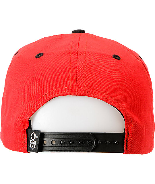 REBEL8 Posse Up Red & Black Snapback Hat