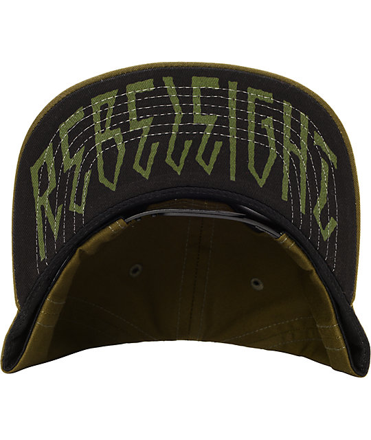 REBEL8 R8 Logo Army Green Snapback Hat