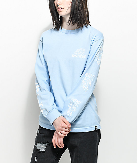 REBEL8 Rosemoor Blue Long Sleeve T-Shirt