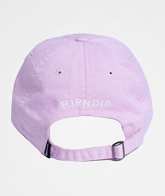 780209d3 RIPNDIP Castanza Pink Dad Hat | Zumiez.ca