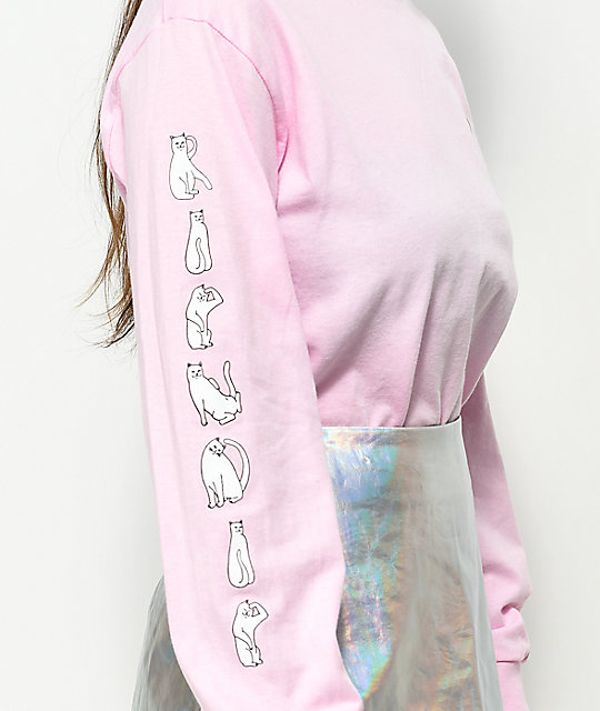 RIPNDIP Cats Pink Long Sleeve T-Shirt