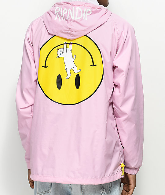 RIPNDIP Everything Will Be Okay Pink Anorak Jacket