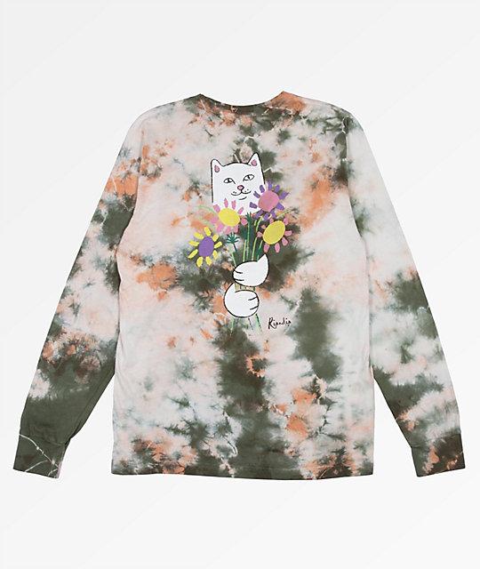 31ca5d6d4 RIPNDIP Flowers For Bae Green & Pink Acid Wash Long Sleeve T-Shirt |  Zumiez.ca