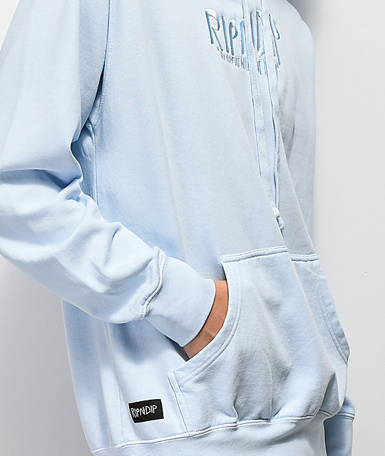 RIPNDIP Great Wave Light Blue Hoodie