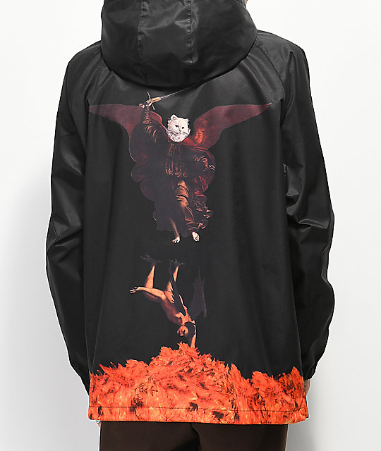 RIPNDIP Hell Pit Black Coaches Jacket