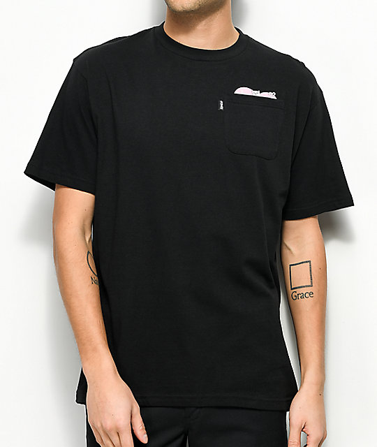 RIPNDIP I Kneed You Black Pocket T-Shirt