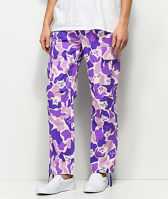 RIPNDIP Invisible Purple Cargo Pants