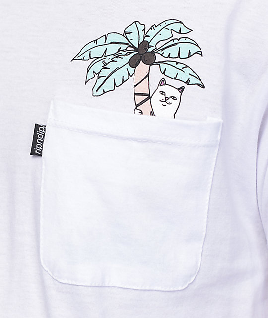 RIPNDIP Jungle Nermal Leaf White T-Shirt