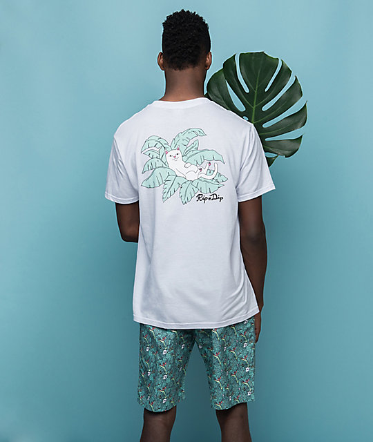 RIPNDIP Jungle Nermal Leaf camiseta blanca