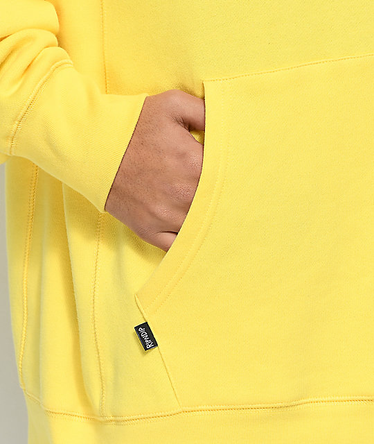 RIPNDIP Logo Embroidered Yellow Hoodie