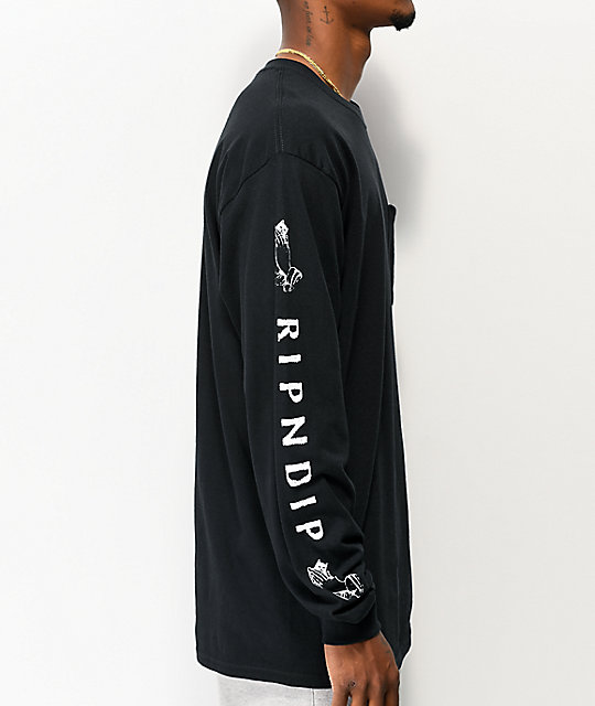 RIPNDIP Lord Jermal Black Long Sleeve T-Shirt