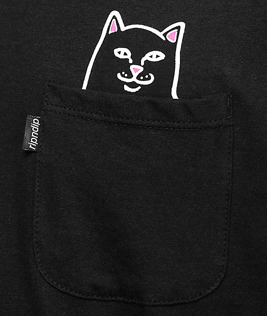 RIPNDIP Lord Jermal Black Pocket T-Shirt