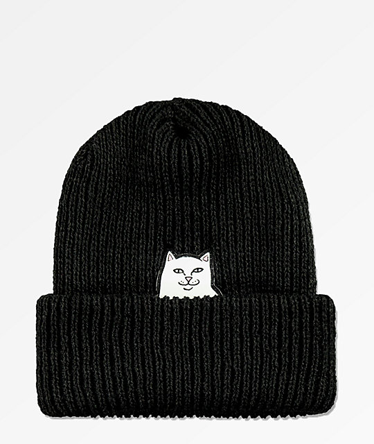 RIPNDIP Lord Nermal Black Beanie
