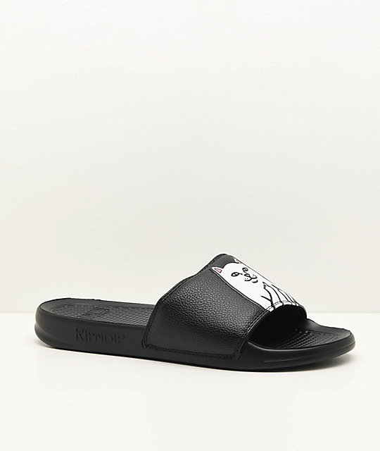 babc25cff7cb RIPNDIP Lord Nermal Black Slide Sandals