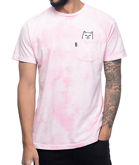 RIPNDIP Lord Nermal Heather Pink Pocket T-Shirt
