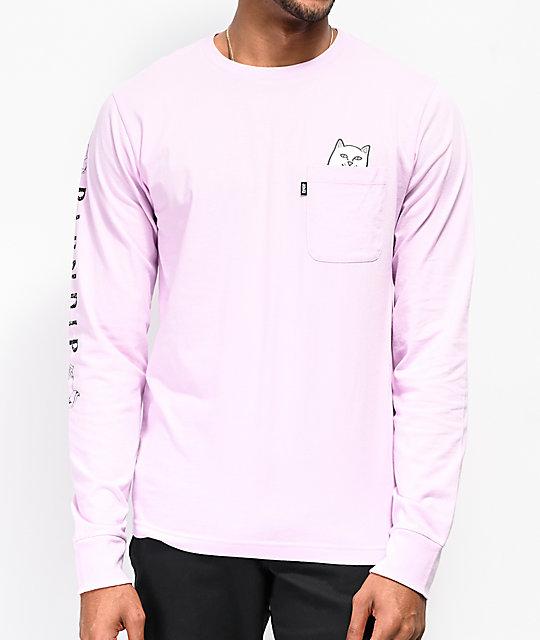 73ce80affd70 RIPNDIP Lord Nermal Lavender Long Sleeve T-Shirt   Zumiez.ca