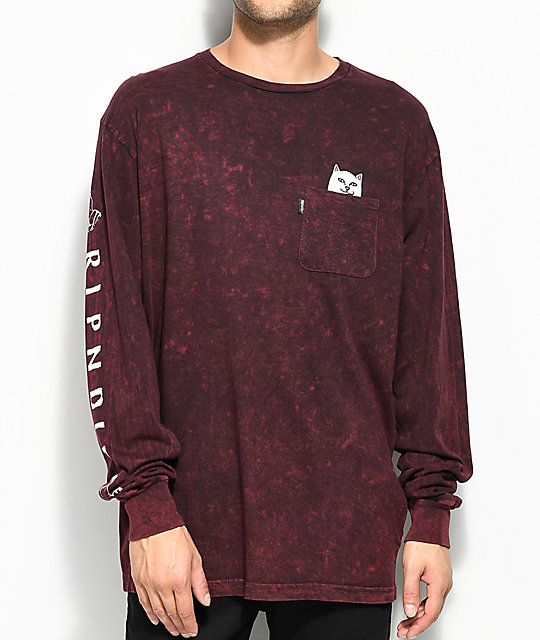 RIPNDIP Lord Nermal Long Sleeve Blood Wash T-Shirt