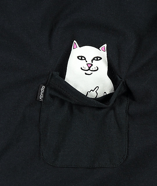 RIPNDIP Lord Nermal Long Sleeve Pocket T-Shirt