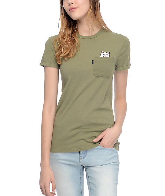 RIPNDIP Lord Nermal Olive Pocket T-Shirt