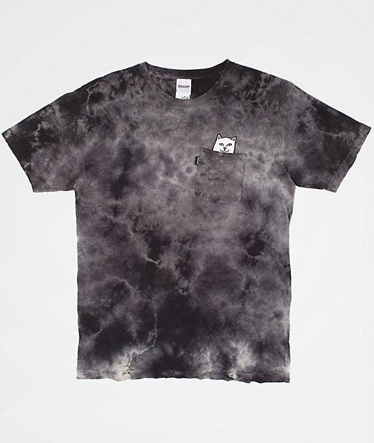 623b8eead64 RIPNDIP Lord Nermal Pocket Black Tie Dye T-Shirt