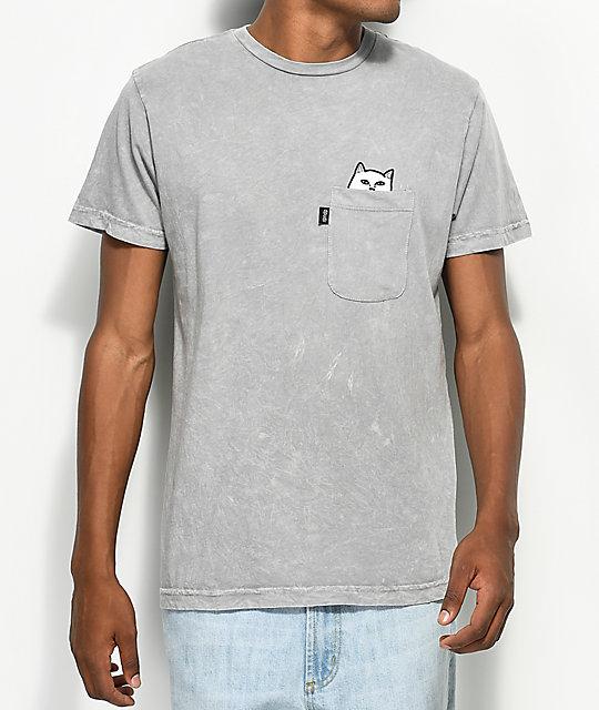 d9e3df99a8f RIPNDIP Lord Nermal Pocket Grey T-Shirt