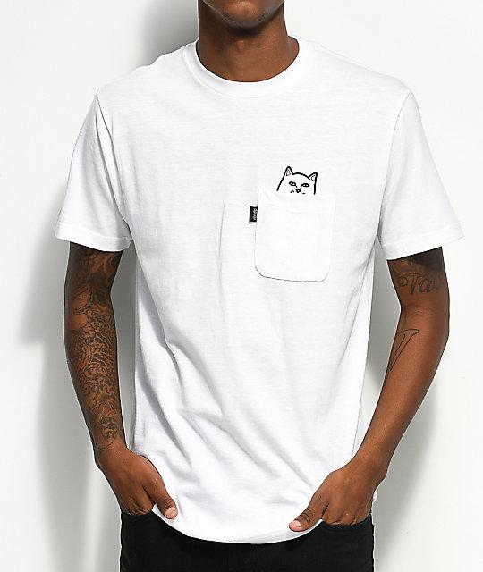 49d1577647 RIPNDIP Lord Nermal Pocket White T-Shirt