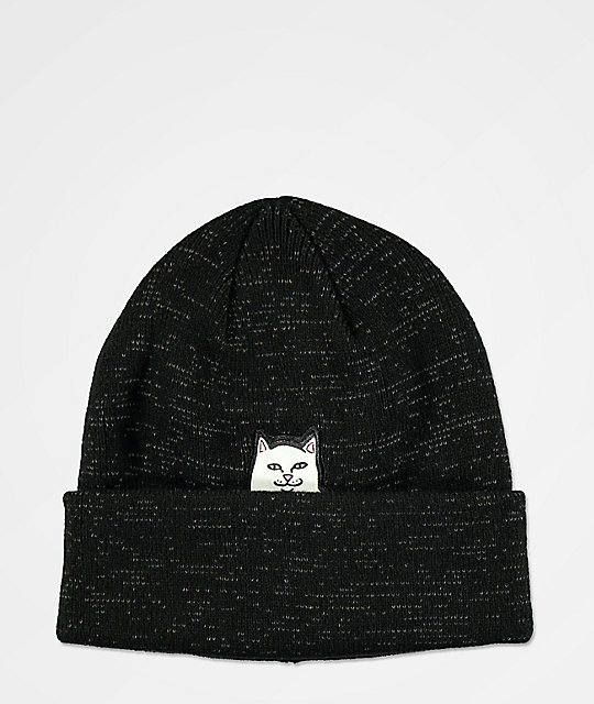 RIPNDIP Lord Nermal Reflective Black Beanie