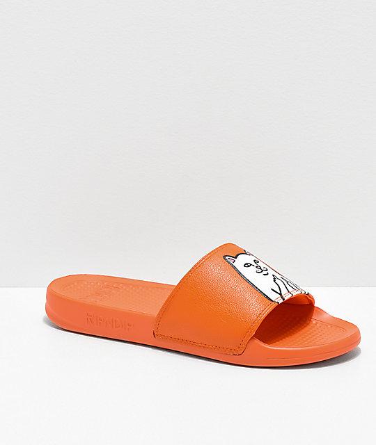 0f80cfd1be0fc RIPNDIP Lord Nermal Safety Orange Slide Sandals