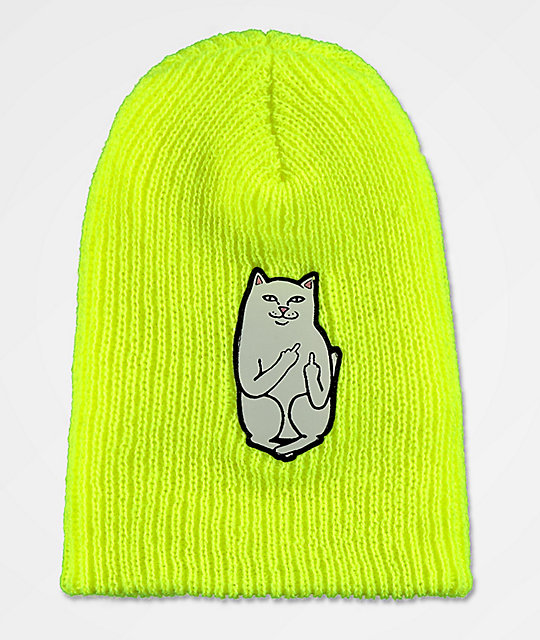 RIPNDIP Lord Nermal Safety Yellow Beanie