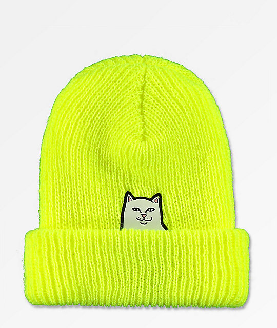 bca5a5a2f643f RIPNDIP Lord Nermal Safety Yellow Beanie