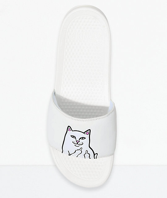 RIPNDIP Lord Nermal White Slide Sandals