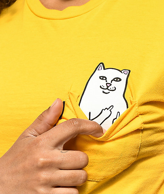 RIPNDIP Lord Nermal Yellow Pocket T-Shirt