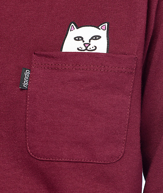 RIPNDIP Lord Nermal camiseta de manga larga en color borgoño