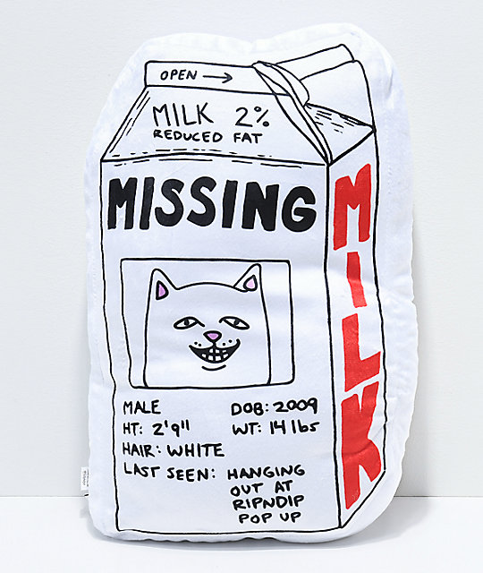 RIPNDIP Milk Carton Pillow