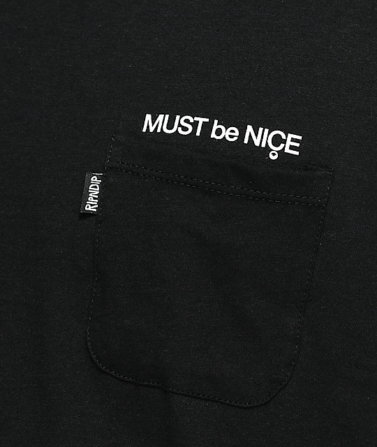 RIPNDIP Mother Black Pocket T-Shirt