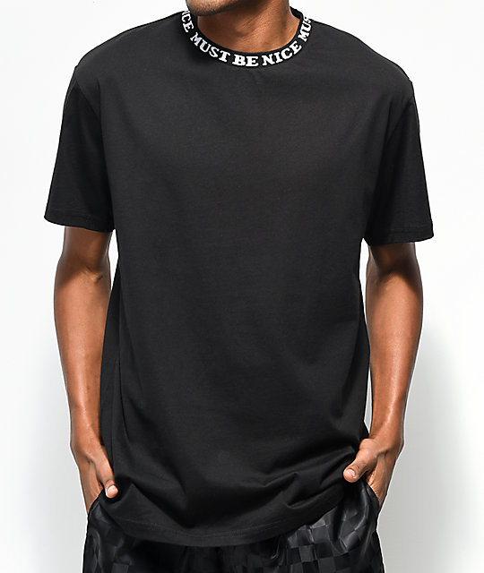 RIPNDIP Must Be Nice Jacquard Rib Black T-Shirt